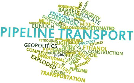 ignited: Abstract word cloud for Pipeline transport with related tags and terms