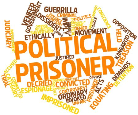 legitimacy: Abstract word cloud for Political prisoner with related tags and terms