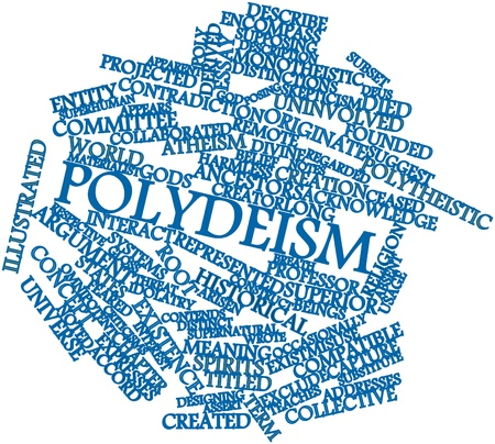 originate: Abstract word cloud for Polydeism with related tags and terms Stock Photo