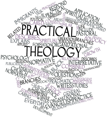 practical: Abstract word cloud for Practical theology with related tags and terms Stock Photo