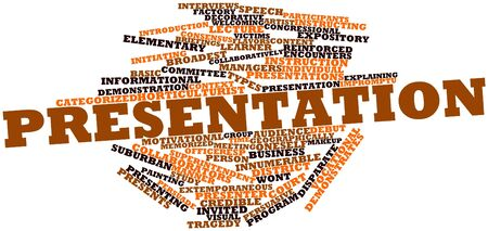 Abstract word cloud for Presentation with related tags and terms