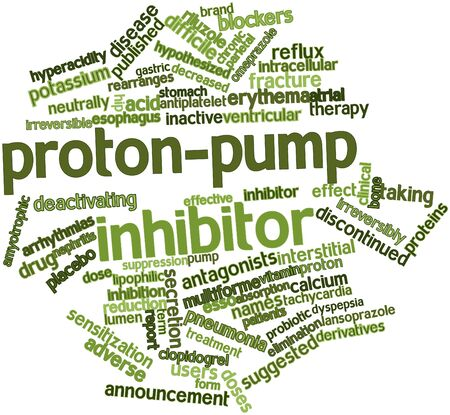 intracellular: Abstract word cloud for Proton-pump inhibitor with related tags and terms