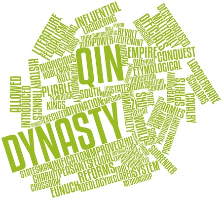 feudalism: Abstract word cloud for Qin Dynasty with related tags and terms