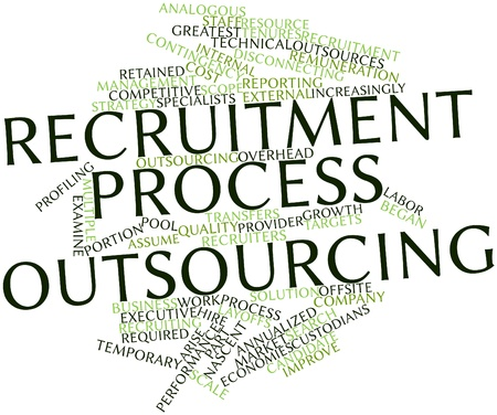 recruiting: Abstract word cloud for Recruitment process outsourcing with related tags and terms