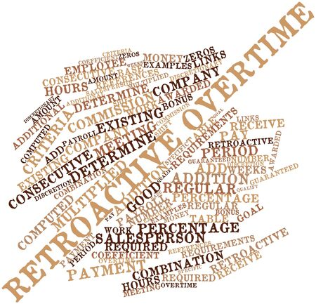 coefficient: Abstract word cloud for Retroactive overtime with related tags and terms
