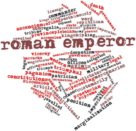 Abstract word cloud for Roman emperor with related tags and terms