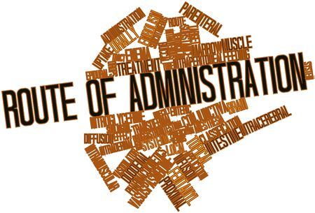Abstract word cloud for Route of administration with related tags and terms