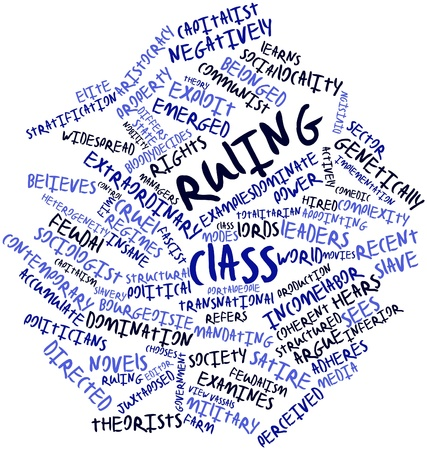 ruling: Abstract word cloud for Ruling class with related tags and terms