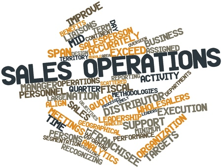 Abstract word cloud for Sales operations with related tags and terms