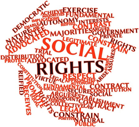 implications: Abstract word cloud for Social rights with related tags and terms