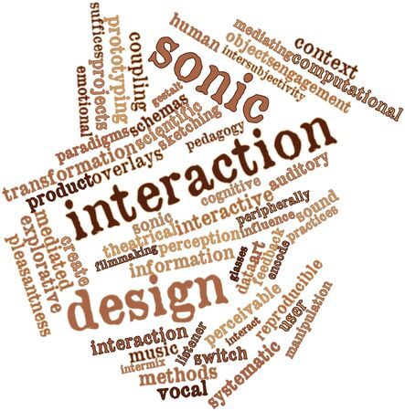 sonic: Abstract word cloud for Sonic interaction design with related tags and terms
