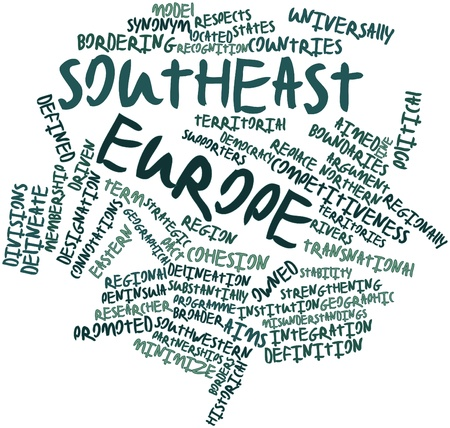 delineate: Abstract word cloud for Southeast Europe with related tags and terms