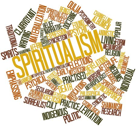psychical: Abstract word cloud for Spiritualism with related tags and terms
