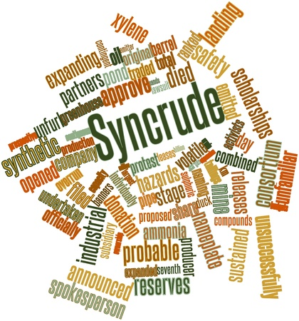 spokesperson: Abstract word cloud for Syncrude with related tags and terms