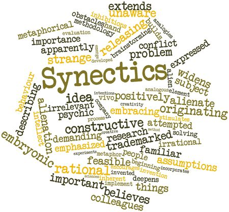 invent things: Abstract word cloud for Synectics with related tags and terms