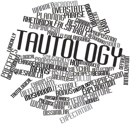 deceleration: Abstract word cloud for Tautology with related tags and terms