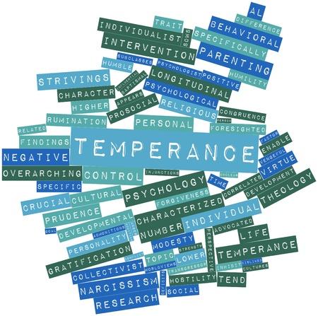 humility: Nube palabra abstracta para la Templanza con etiquetas y términos relacionados Foto de archivo