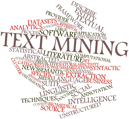 Abstract word cloud for Text mining with related tags and terms Stock Photo - 17319660