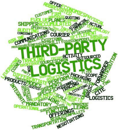 Abstraktes Wort-Wolke für Third-Party-Logistics mit verwandten Tags und Begriffe Lizenzfreie Bilder