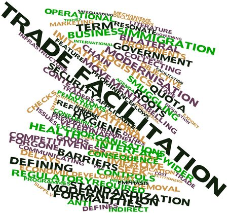 facilitation: Abstract word cloud for Trade facilitation with related tags and terms