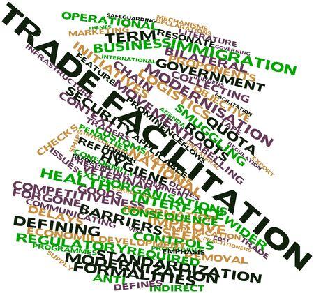 iniciativas: Nube palabra abstracta para la facilitaci�n del comercio con las etiquetas y t�rminos relacionados