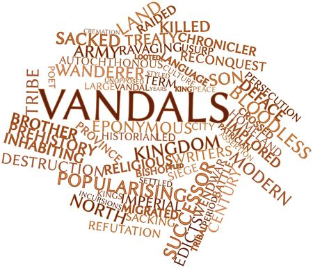 deposed: Abstract word cloud for Vandals with related tags and terms