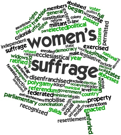 Abstract word cloud for Women's suffrage with related tags and terms Stock Photo - 17320049