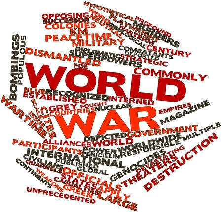 coined: Abstract word cloud for World war with related tags and terms Stock Photo