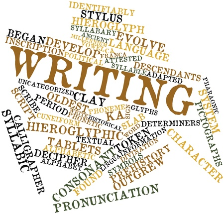 discovered: Abstract word cloud for Writing with related tags and terms