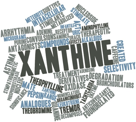 tachycardia: Abstract word cloud for Xanthine with related tags and terms
