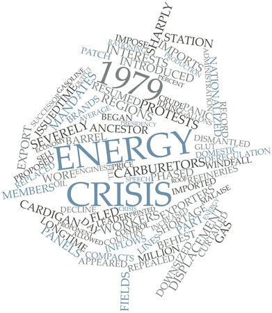 Abstract word cloud for 1979 energy crisis with related tags and terms