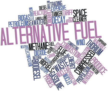 fracturing: Abstract word cloud for Alternative fuel with related tags and terms Stock Photo