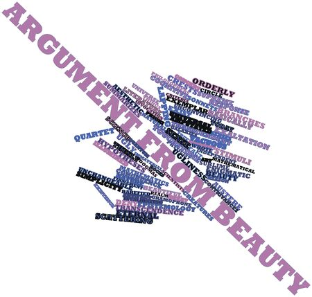 epistemology: Abstract word cloud for Argument from beauty with related tags and terms