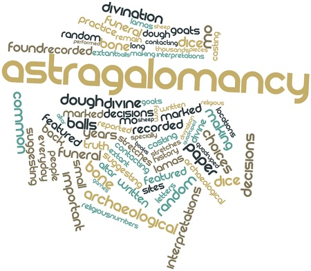 interpretations: Abstract word cloud for Astragalomancy with related tags and terms