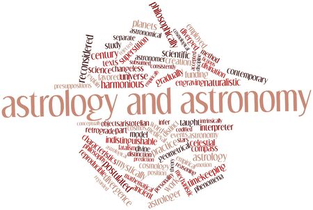 divergence: Abstract word cloud for Astrology and astronomy with related tags and terms