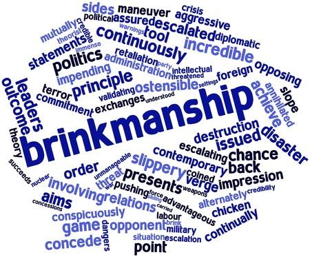 relaciones laborales: Nube palabra abstracta para política arriesgada con las etiquetas y términos relacionados