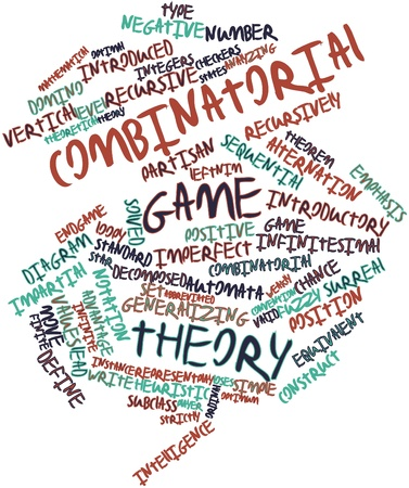 Abstract word cloud for Combinatorial game theory with related tags and terms Stock Photo - 17352153