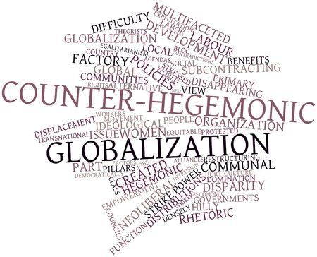 equitable: Abstract word cloud for Counter-hegemonic globalization with related tags and terms