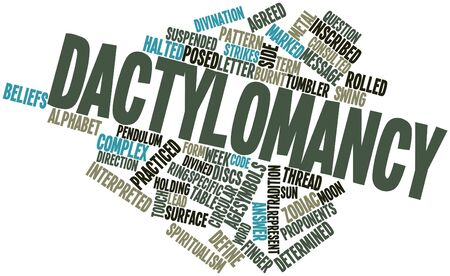 consulted: Abstract word cloud for Dactylomancy with related tags and terms