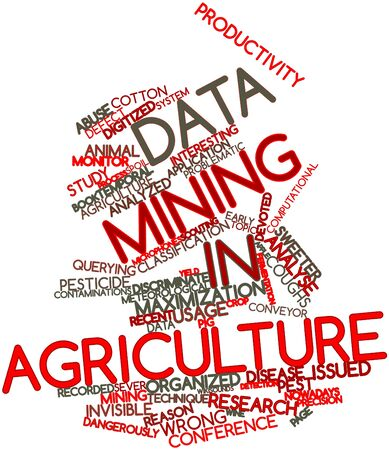Abstract word cloud for Data mining in agriculture with related tags and terms photo