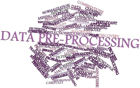 Abstract word cloud for Data pre-processing with related tags and terms photo
