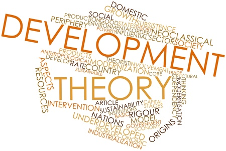 anthropological: Abstract word cloud for Development theory with related tags and terms