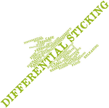 attempted: Abstract word cloud for Differential sticking with related tags and terms