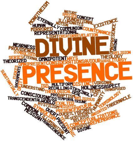 presence: Abstract word cloud for Divine presence with related tags and terms