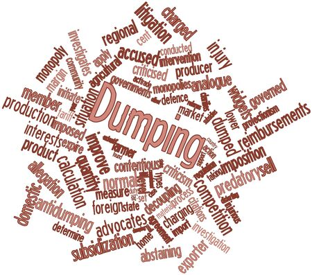 criticised: Abstract word cloud for Dumping with related tags and terms