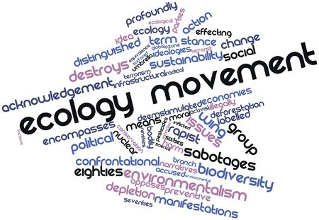 confrontational: Abstract word cloud for Ecology movement with related tags and terms Stock Photo