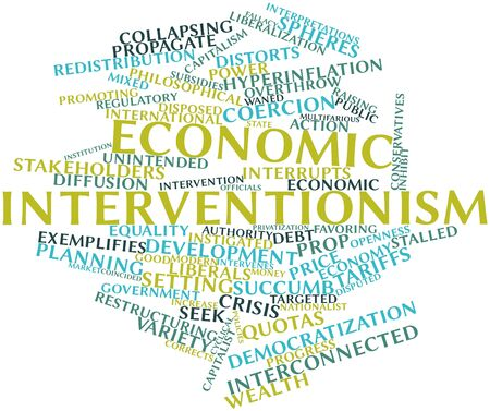 fallacy: Abstract word cloud for Economic interventionism with related tags and terms