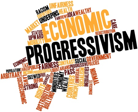 Abstract word cloud for Economic progressivism with related tags and terms Stock Photo - 17351265