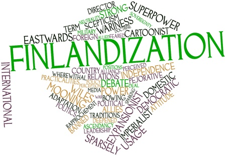 Abstract word cloud for Finlandization with related tags and terms