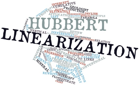 Abstract word cloud for Hubbert linearization with related tags and terms Stock Photo - 17351167